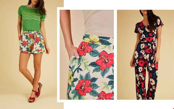 Durf jij van top tot teen in bloemenprint te verschijnen of ga je liever voor alleen de short?