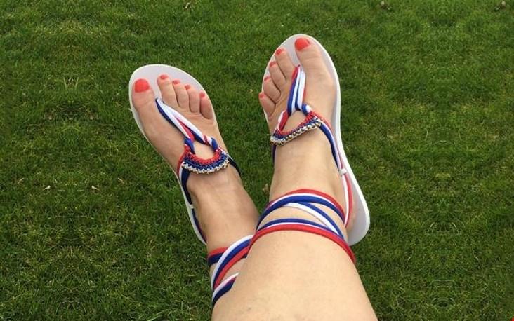 Koningsdag sandalen