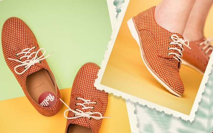 Oranje veterschoentjes, wat zijn ze schattig hè?