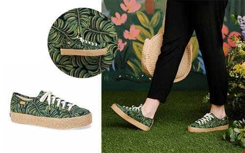 sneakers met palmmotief