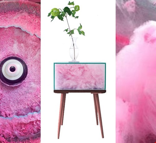 cotton candy side-table