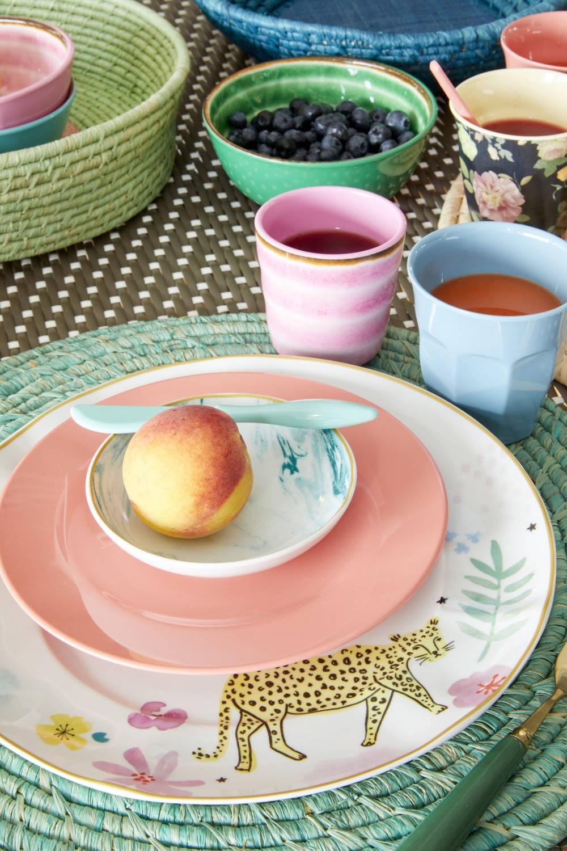 Madamelapoule servies tijger wit en roze flavourites