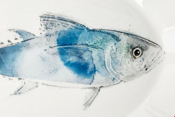BB Atelier blauwe vis keramiek Flavourites