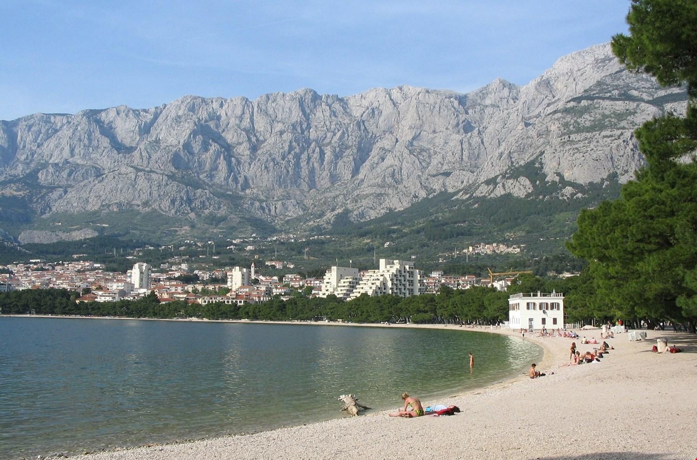 Het strand van Makarska