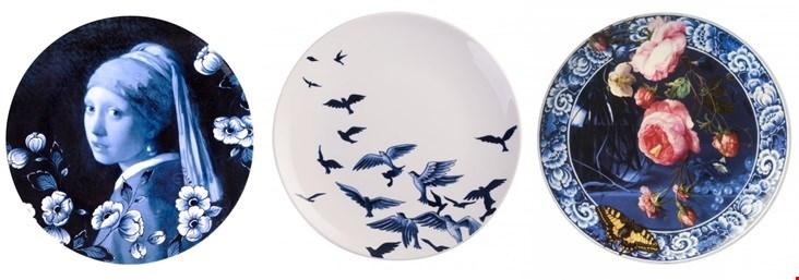 Heel mooie collectie borden van Heinen Delfts Blauw