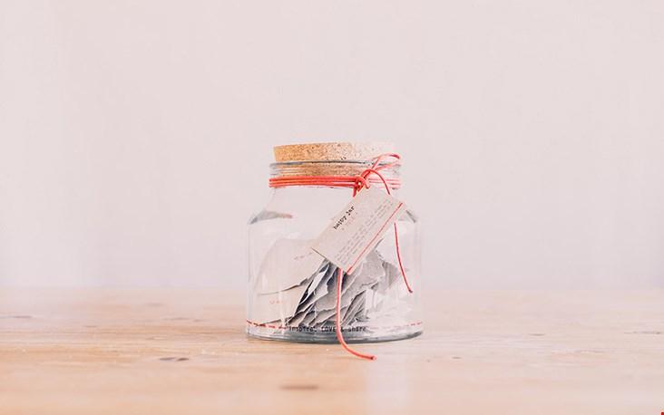 De 'Happy Jar', ook nog eens leuk in je interieur.