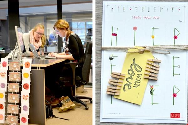 Ann (links) en Bren op hun werkplek