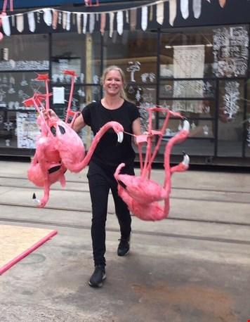 De flamingo's gaan een weekendje weg :-)
