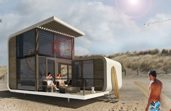 Slapen in een design strandhuisje