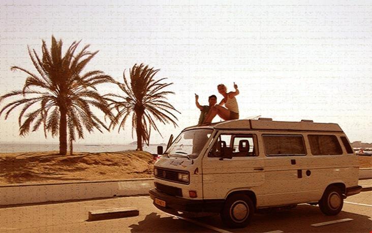 De droom: met een busje langs de kust touren...
