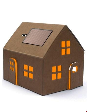 Ook leuk: het kartonnen huisje met lampje