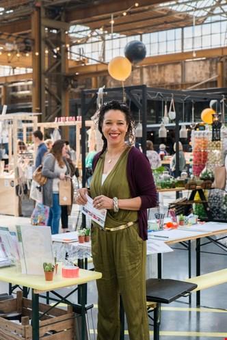 Gisele geeft workshops bij Snorfabriek