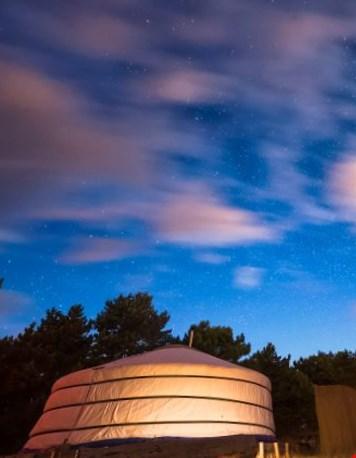 Glamping Texel Yurt buitenkant