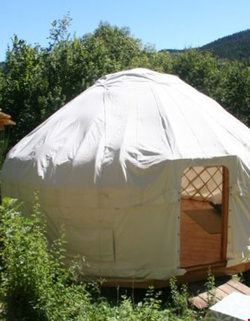 Glamping Yurt Frankrijk buitenkant