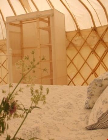 Glamping Yurt Frankrijk binnenkant