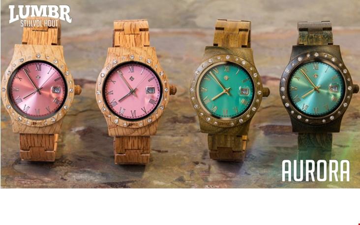Stoer en chic: horloges van hout