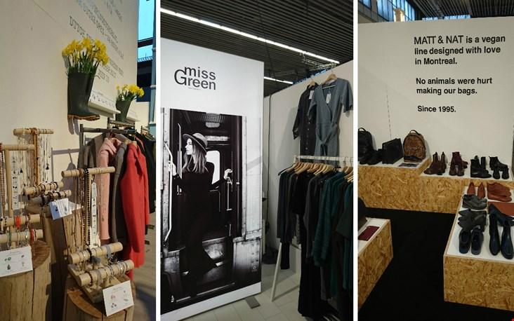 Verschillende duurzame merken die zich presenteren op de Modefabriek