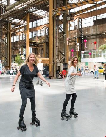 ... en op de disco rolschaatsbaan! (foto @Zilverblauw.nl)