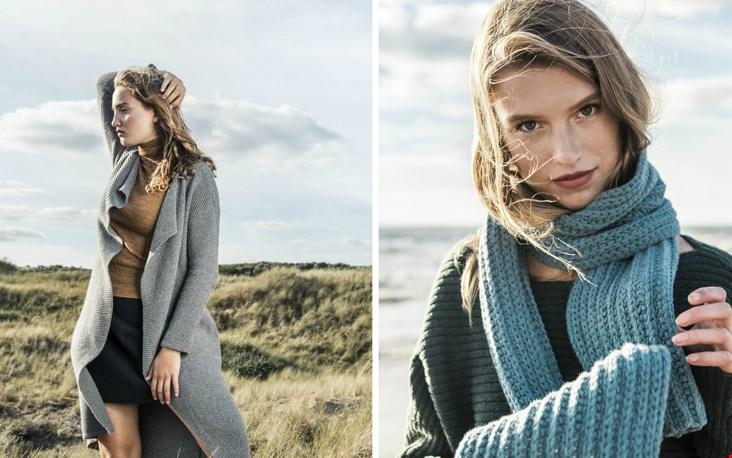 Vest Long Life en Sjaal French Blue voor dames