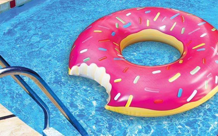 Luieren op een donut
