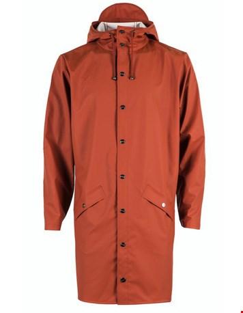 en Long jacket Rust uit de nieuwe collectie van RAINS