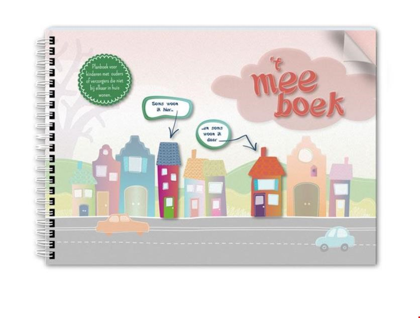 Mooi product ook van uitgeverij BOEL, het meeboek , voor kinderen van gescheiden ouders
