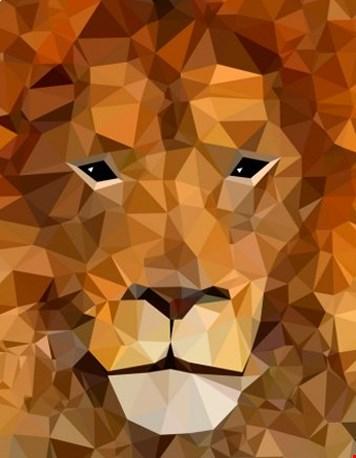 Diamond animals - leeuw