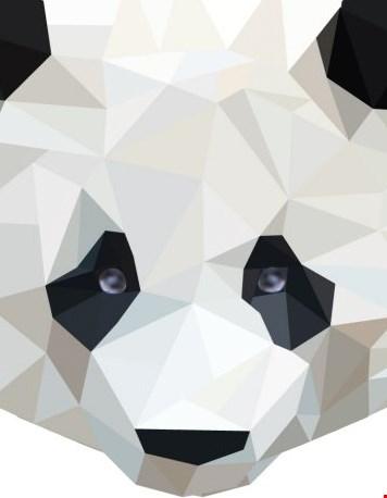 Diamond animals - panda