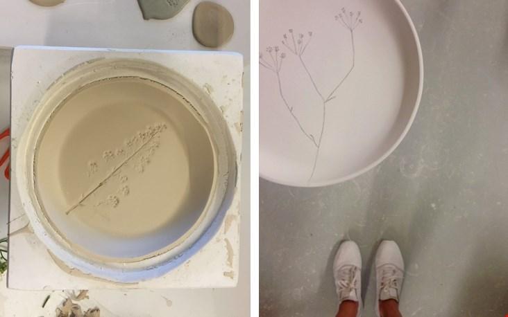 Links: het werk van Maya. Rechts: mijn tekening
