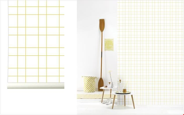 behang Grid Yellow