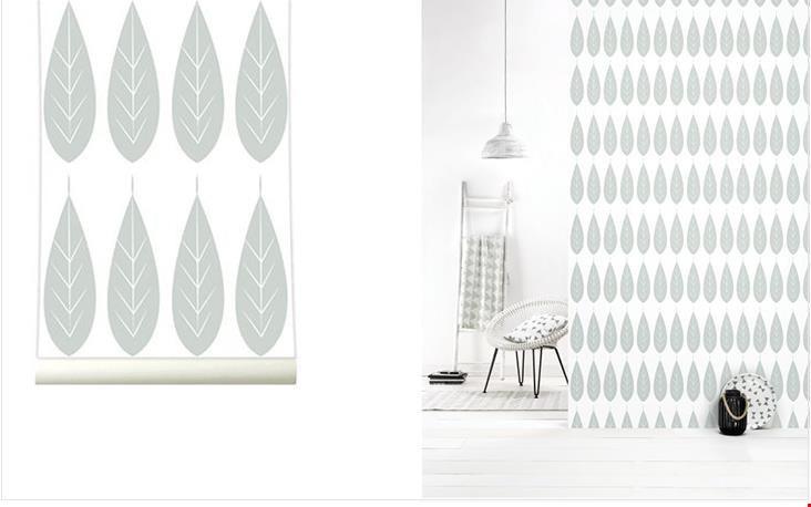 behang Botanic Grey