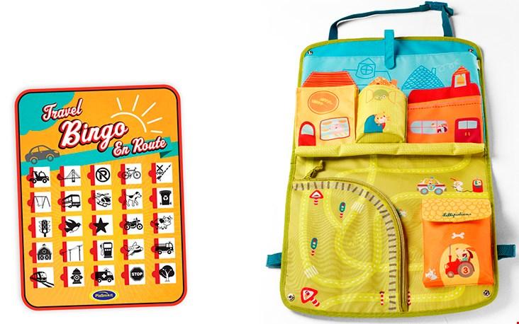 Leuk is ook de bingo voor onderweg, die past natuurlijk in de auto opbergzak
