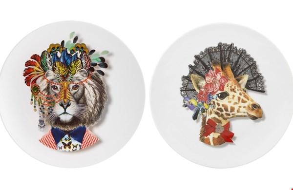 Porseleinen borden Jungle King en Giraffe uit de serie: Love who you want