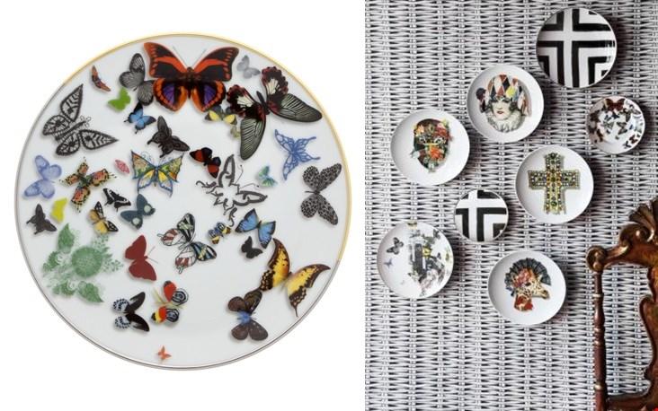Kleurrijke vlinders uit de serie: Butterfly Parade, met details van goud en platinum