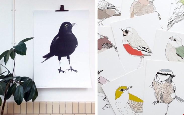 Gezien in de webshop van Studiodewinkel: heel veel vogels van Maartje