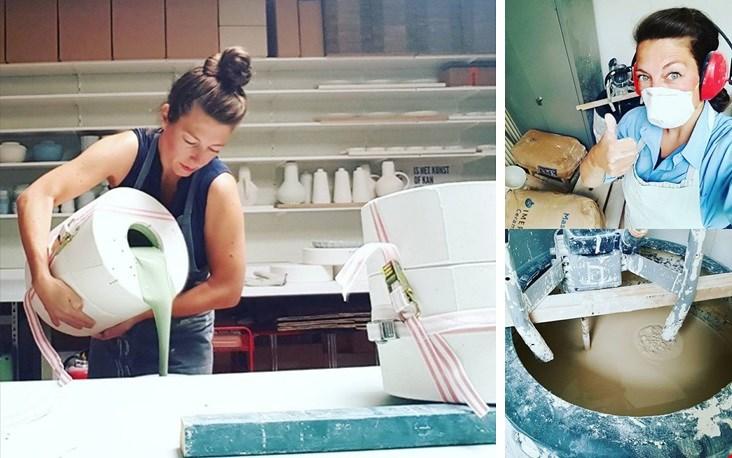 Behoorlijk zwaar: het maken van gietporselein