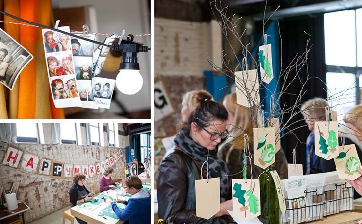 Foto's laten maken bij de Fotobus en het inspirerende Papieratelier bezoeken
