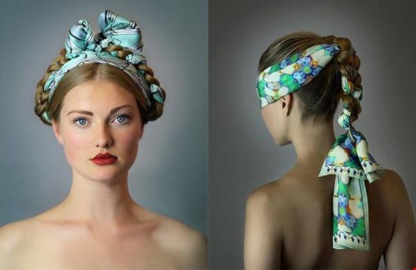 Mooi om een sjaal te verwerken in het haar