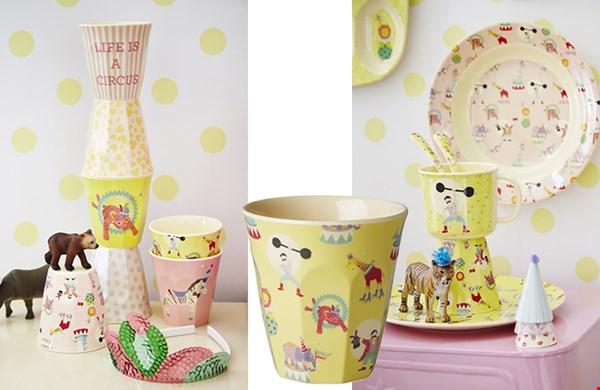 Gespot in de nieuwe shop van Psikhouvanjou.nl: het kinderservies Circus van Rice