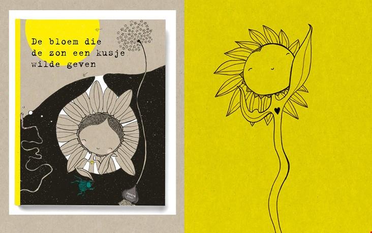 De bloem die de zon een kusje wilde geven