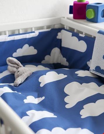Wolken dekbed blauw