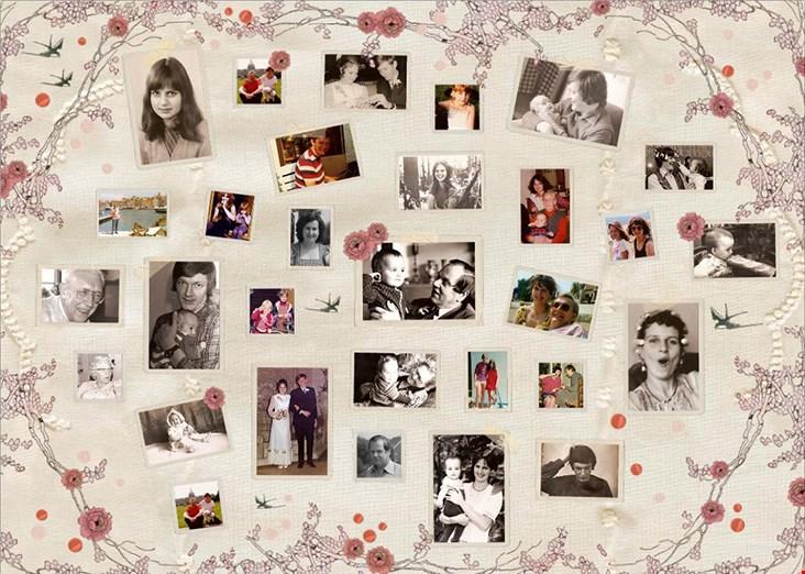 Een voorbeeld van een collage met een speciaal voor Easycollage.nl ontworpen design