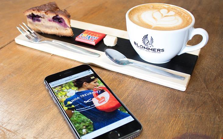 Tijd voor goede koffie! En de webshop op mobiel bekijken