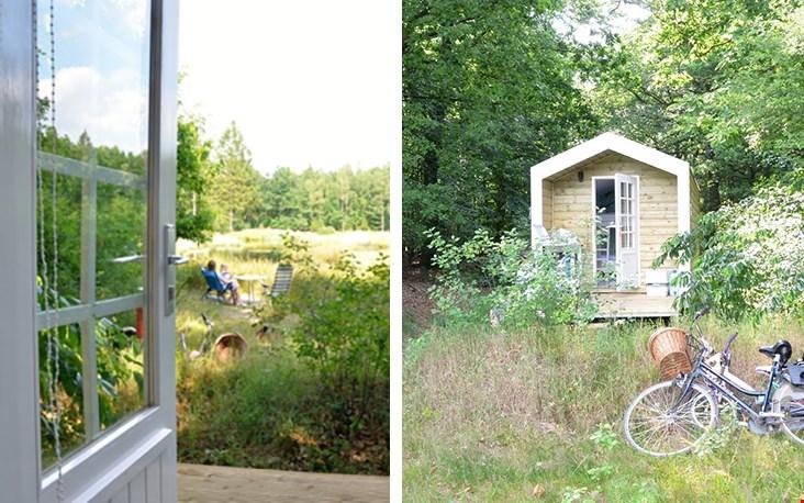 Wild kamperen in de Drentse natuur, in een keet!