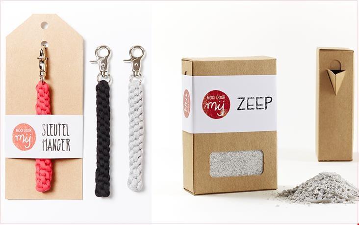 Sleutelhangers en strooizeep in leuke verpakking