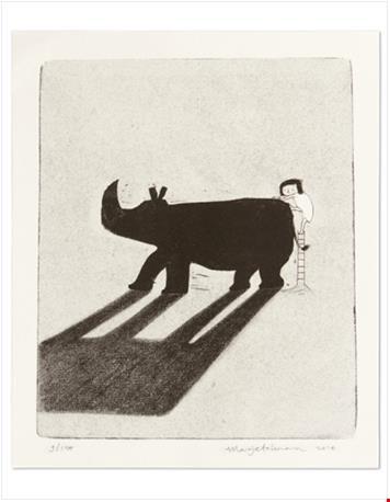 Neushoorn uit 'Doei!' - door Marije Tolman