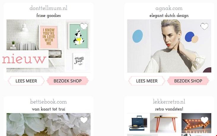 Nog meer nieuwe webshops vind je elke maand terug onder onze rubriek nieuw