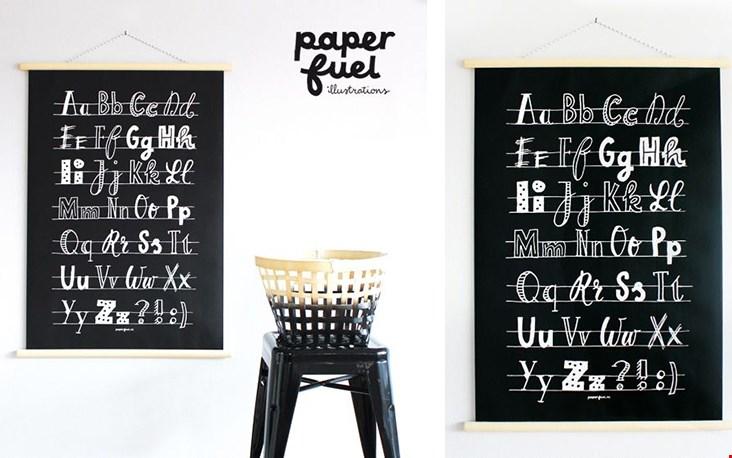 Gespot bij Madamelapoule.nl: deze prachtige poster van Paperfuel
