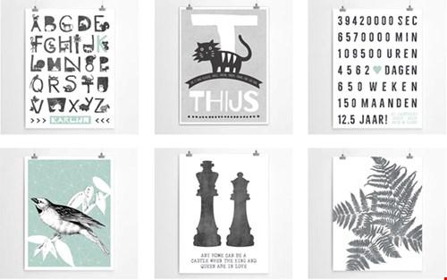 Dat wordt nog heel lastig kiezen; niet alleen de prints zijn gaaf, je kunt de posters ook nog eens customizen!