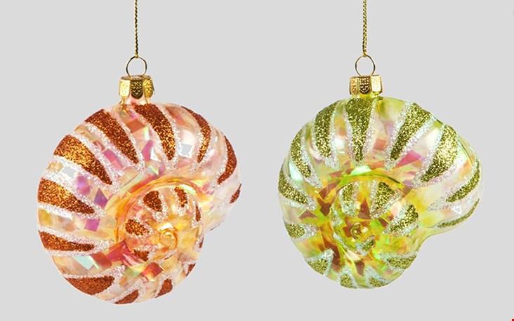 Handgemaakte, glazen kersthangers